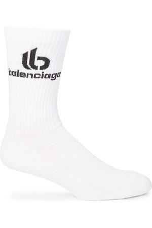 Balenciaga Double B Logo Crew Socks