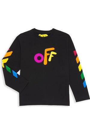 OFF-WHITE Long Sleeve - Little Girl's & Girl's Rainbow Logo Long Sleeve T-Shirt