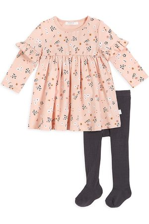 FIRSTS by petit lem Girls Sets - Baby Girl's 2-Piece Petit Lem Firsts Dress And Tights Set