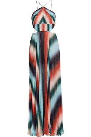 AMUR Pleated Chiffon Dress