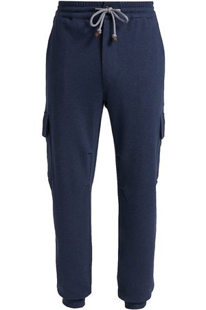 Brunello Cucinelli Men Cargo Pants - Jersey Cargo Jogger Pants