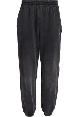 Balenciaga Men Stretch Pants - Stretch-Knee Washed Joggers