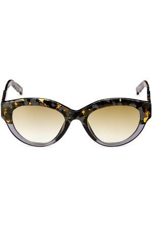 COCO AND BREEZY Peyton 53MM Teardrop Sunglasses