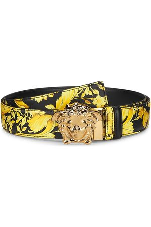 VERSACE Men Belts - Medusa Buckle Reversible Leather Belt