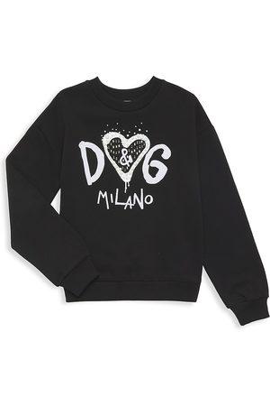 Dolce & Gabbana Sweatshirts - Little Girl's & Girl's Logo Embellished Sweatshirt