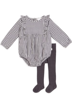 FIRSTS by petit lem Girls Sets - Baby Girl's 2-Piece Petit Lem Firsts Bubble Bodysuit And Tights Set