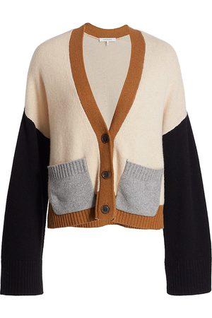 Frame Colorblock Cashmere Cardigan