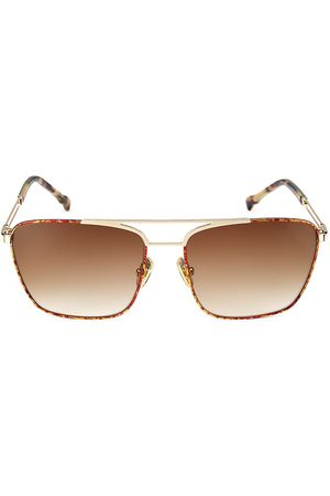 COCO AND BREEZY Manifest 57MM Modified Navigator Sunglasses