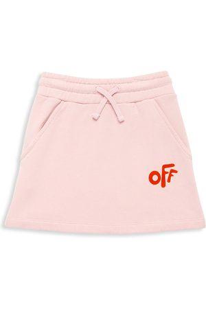 OFF-WHITE Little Girl's & Girl's Logo Graphic Mini Skirt
