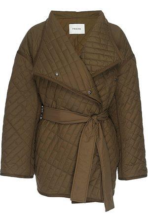 Frame Women Denim Jackets - Quilted Belted Jacket
