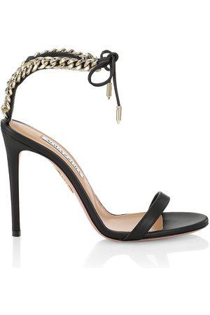 Aquazzura Nikki Leather Stiletto Sandals