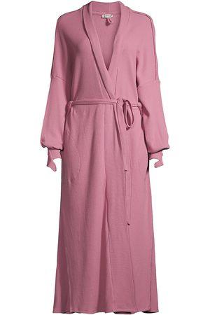 Free People Women Bathrobes - Under The Stars Long Cotton Robe