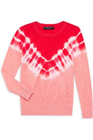 Central Park West Girl's Phoenix Tie-Dye Crewneck Sweater