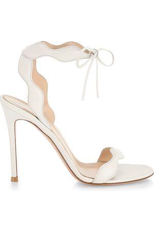 Gianvito Rossi Nappa Leather Stiletto Sandals