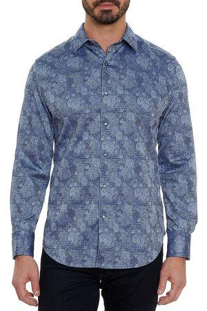 Robert Graham Abstract Floral Check Sport Shirt