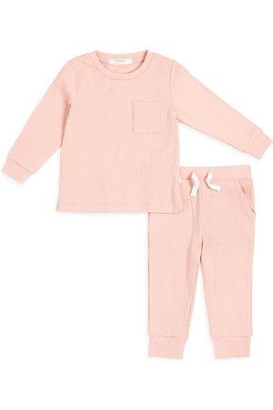 FIRSTS by petit lem Girls Sets - Baby Girl's 2-Piece Petit Lem Firsts Top & Pants Set