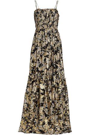 MONIQUE LHUILLIER Women Maxi Dresses - Metallic Chiffon Maxi Dress