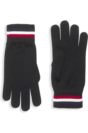 Moncler Men Gloves - Stripped Cuff Wool Gloves
