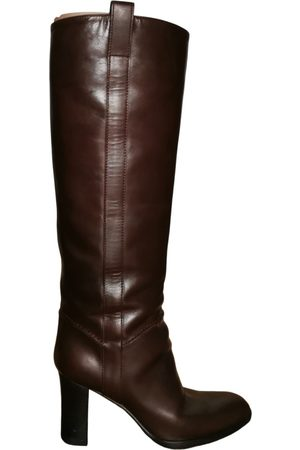 Sergio Rossi Leather western boots
