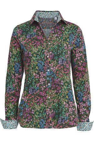 Robert Graham Women Blouses - Priscilla Stretch-Satin Printed Blouse