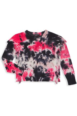 Central Park West Boys Neckties - Girl's Remi Tie-Dye Fringe Sweater