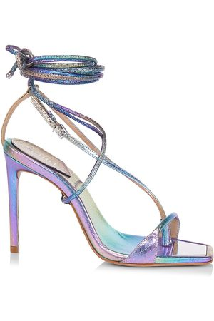 Schutz Women Heeled Sandals - Vikki Iridecent Lace-Up High-Heel Sandals