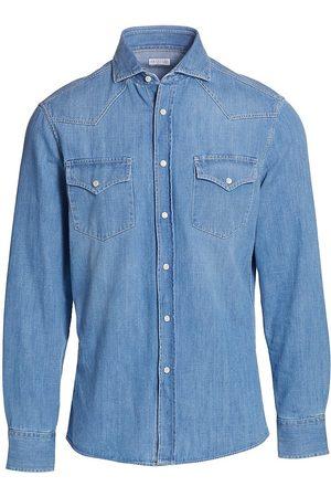 Brunello Cucinelli Men Denim - Western Denim Shirt
