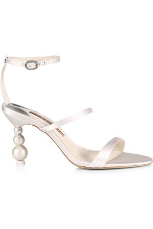 SOPHIA WEBSTER Women Heeled Sandals - Rosalind Pearl Mid-Heel Sandals