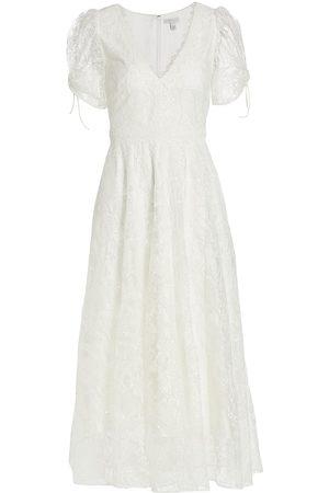 Ml Monique Lhuillier Women Printed Dresses - Floral Midi-Length Gown