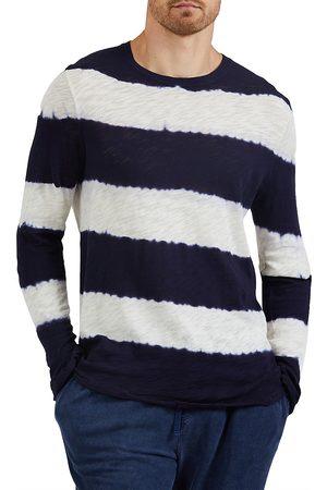 ATM Anthony Thomas Melillo Men Denim - Slub Destroyed Crewneck Shirt