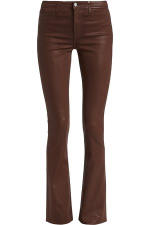 L'Agence Bootcut - Selma Coated Baby Bootcut Jeans
