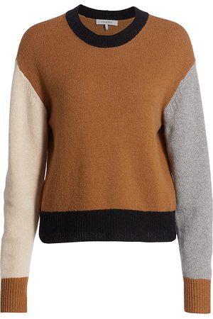 Frame Colorblock Cashmere-Wool Sweater