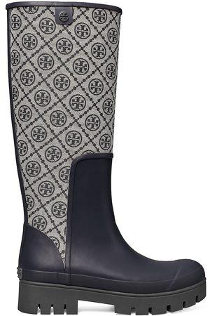 Tory Burch Women Thigh High Boots - Hurricane Tall Rain Boots