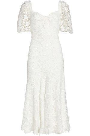 Ml Monique Lhuillier Women Midi Dresses - Lace Sweetheart Midi Dress