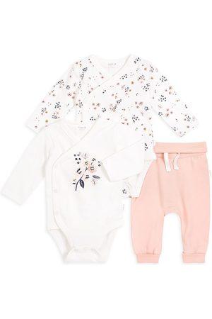 FIRSTS by petit lem Baby Girl's 3-Piece Petit Lem Firsts Bodysuits & Pants Set