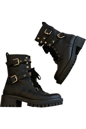 RED Valentino Leather biker boots