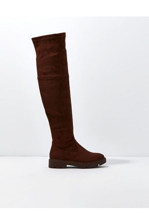 American Eagle Outfitters Women Thigh High Boots - Suede Knee-High Boot Women's 5