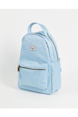 Herschel Nova small backpack in light blue denim-Blues