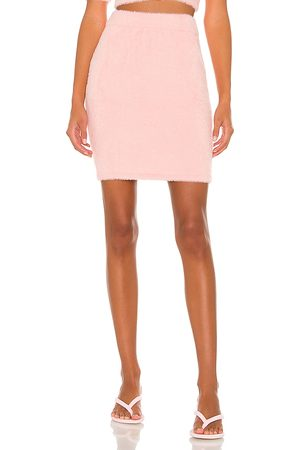 Amanda Uprichard Charlett Skirt in Pink.