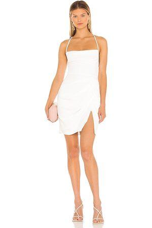 Amanda Uprichard Jasalina Mini Dress in Ivory.