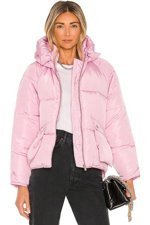 Toast Society Women Puffer Jackets - Pluto Puffer Jacket in Pink.