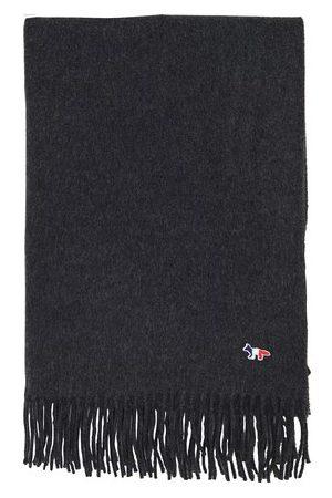 Maison Kitsuné Tricolor fox wool scarf