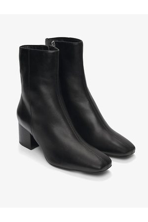 The White Company Block heel leather ankle boots
