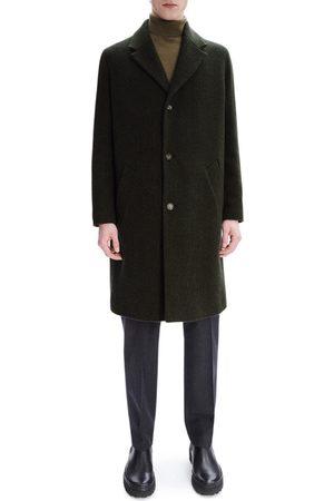 A.P.C. Men's Robin Herringbone Wool Blend Topcoat