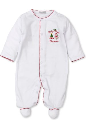 Kissy Kissy Infant Girl's First Christmas Cotton Snap Footie