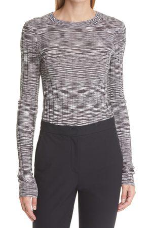 ATM Anthony Thomas Melillo Women's Space Dye Long Sleeve Silk & Cotton T-Shirt