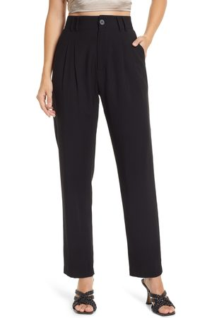 Lulus Women's Strictly Business High Waist Taper Pants