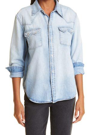 RE/DONE Women's 50S Sawtooth Western Denim Shirt