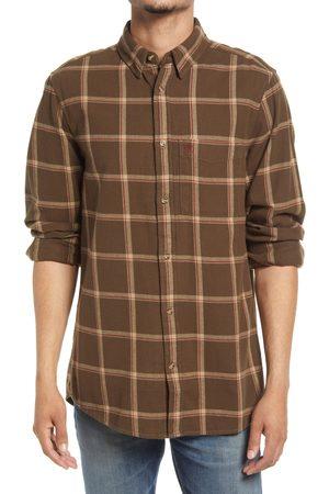 Fjällräven Men's Ovik Comfort Fit Plaid Flannel Button-Up Shirt