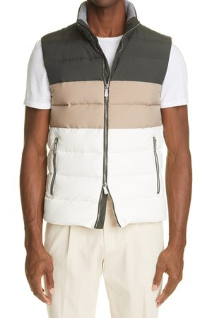 ELEVENTY Men's Loro Piana Storm System Water Resistant Colorblock Quilted Vest